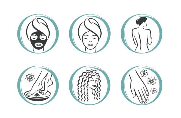 水療沙龍圖示 - 美麗的人 幅插畫檔、美工圖案、卡通及圖標