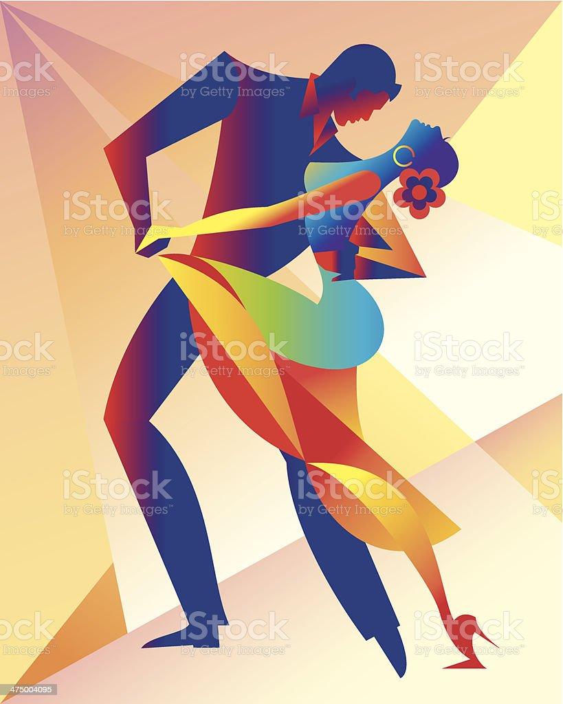 Salsa Dancers C vector art illustration