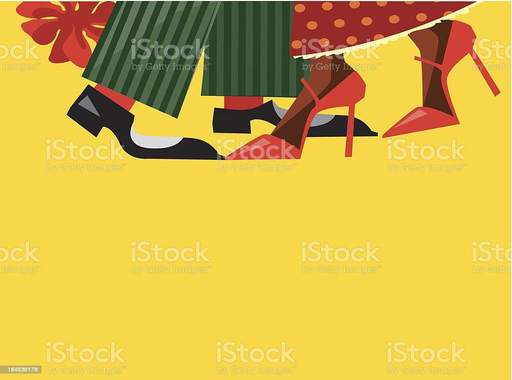 salsa dencers vector art illustration
