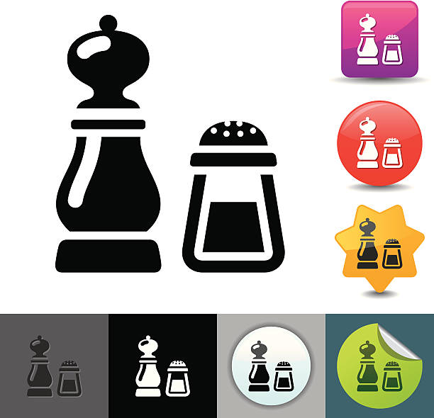 Salt and pepper icon | solicosi series vector art illustration