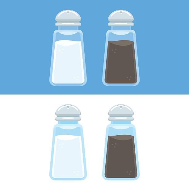 ilustraciones, imágenes clip art, dibujos animados e iconos de stock de salt and pepper icons - salado