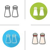 Salt and pepper shakers icons