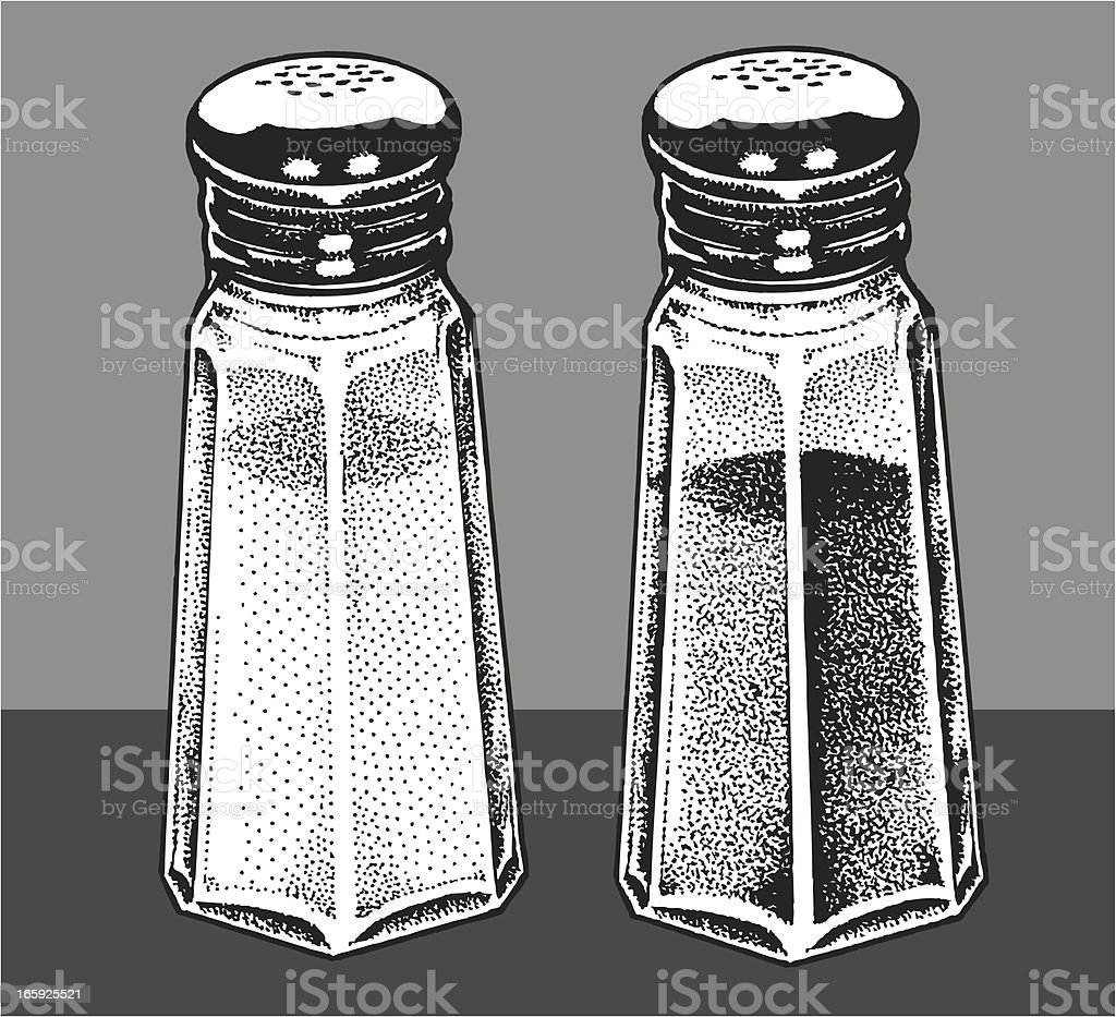 Salt and Pepper Shakers royalty-free salt and pepper shakers stock vector art & more images of black and white