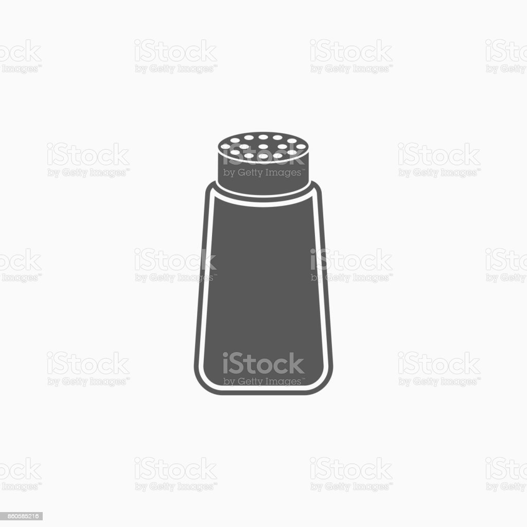 salt icon vector art illustration