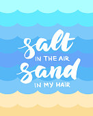 Salt in the air, sand in my hair summer card