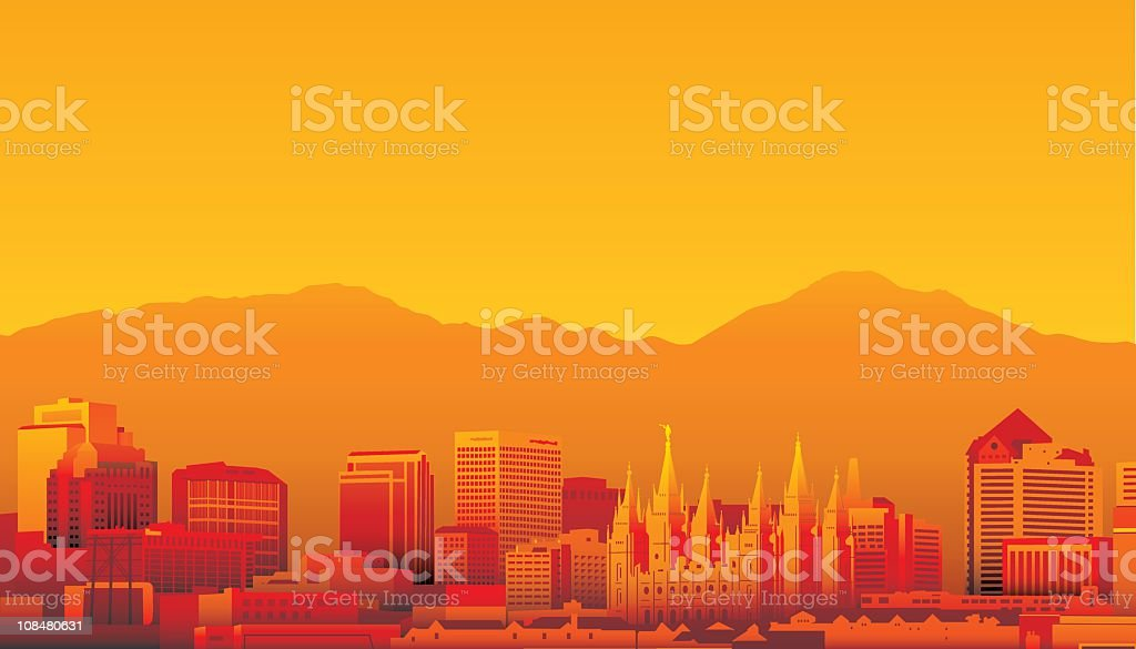 Salt Lake City, Utah royalty-free stock vector art