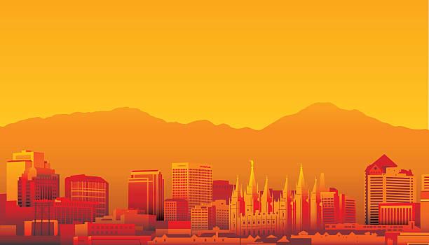 Salt Lake City, Utah vector art illustration