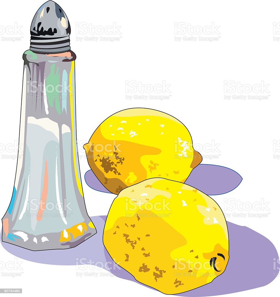 Salt & Lemons royalty-free stock vector art