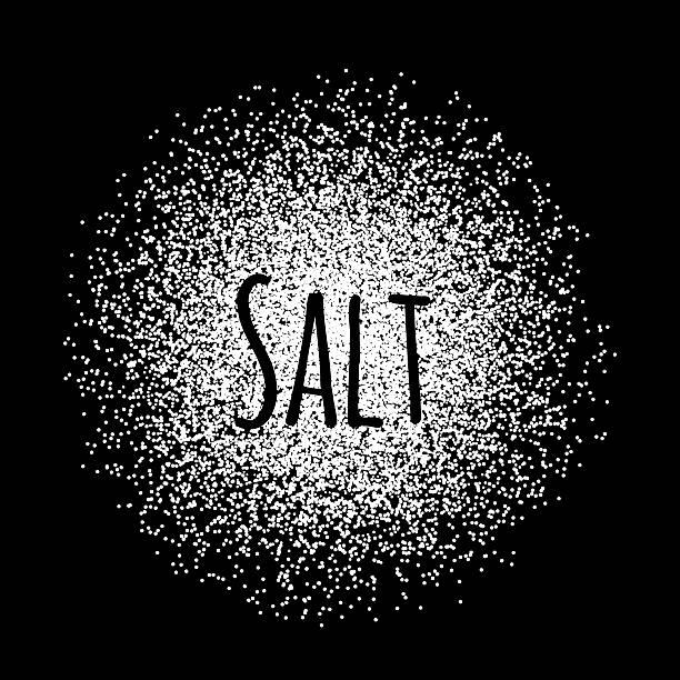 Salt made of white dots Salt made of white dots. Vector illustration on black salt seasoning stock illustrations