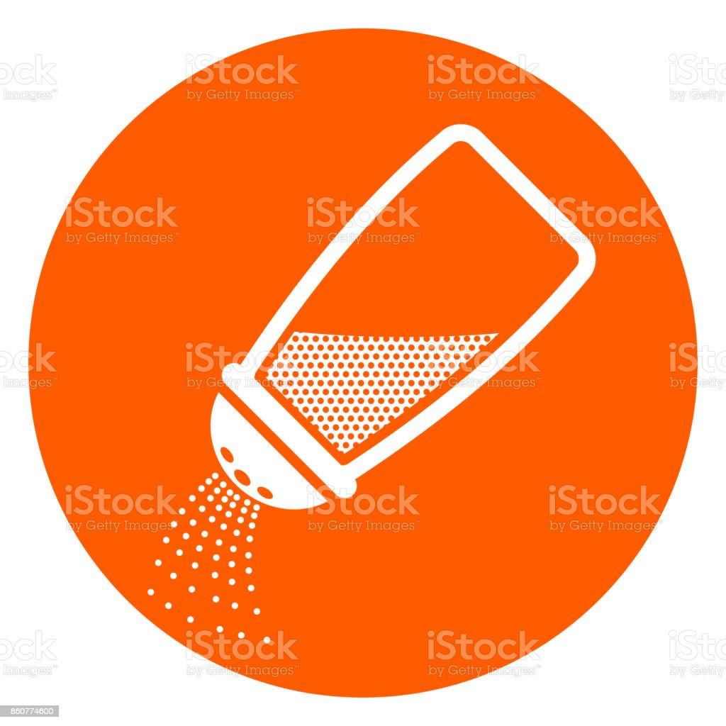 salt orange circle icon vector art illustration