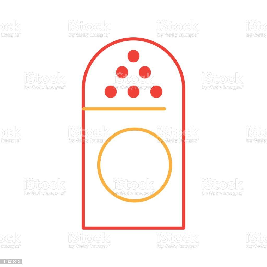 salt shaker isolated icon vector art illustration