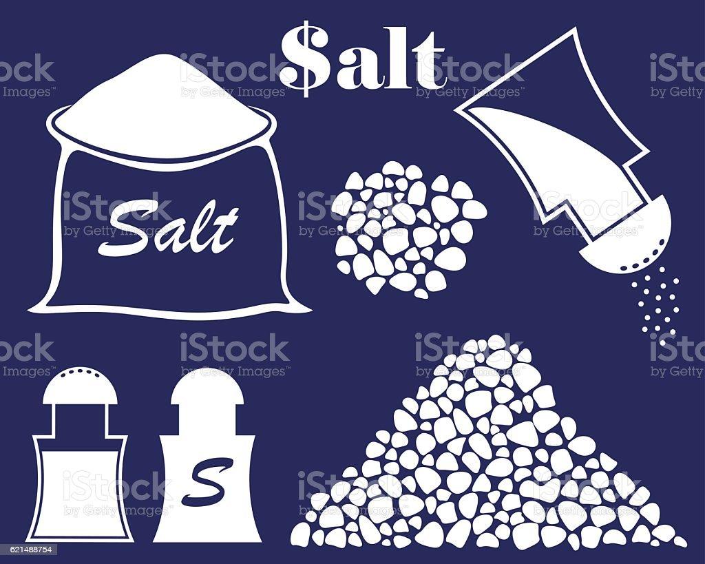 Salt  salt - immagini vettoriali stock e altre immagini di bianco royalty-free