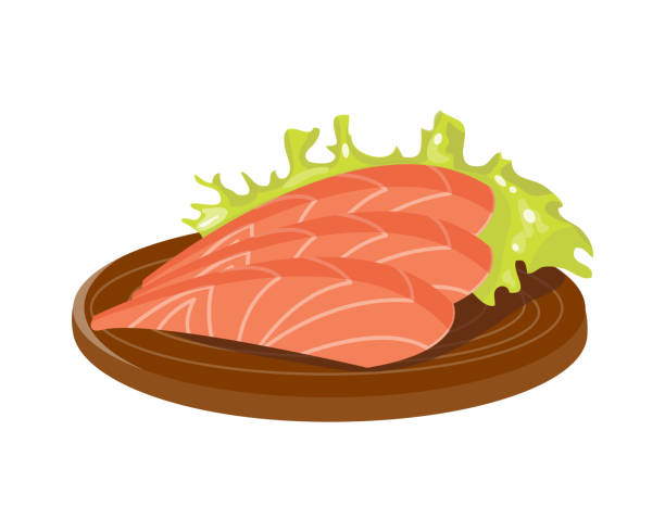 Royalty Free Salmon Fillet Clip Art, Vector Images ...