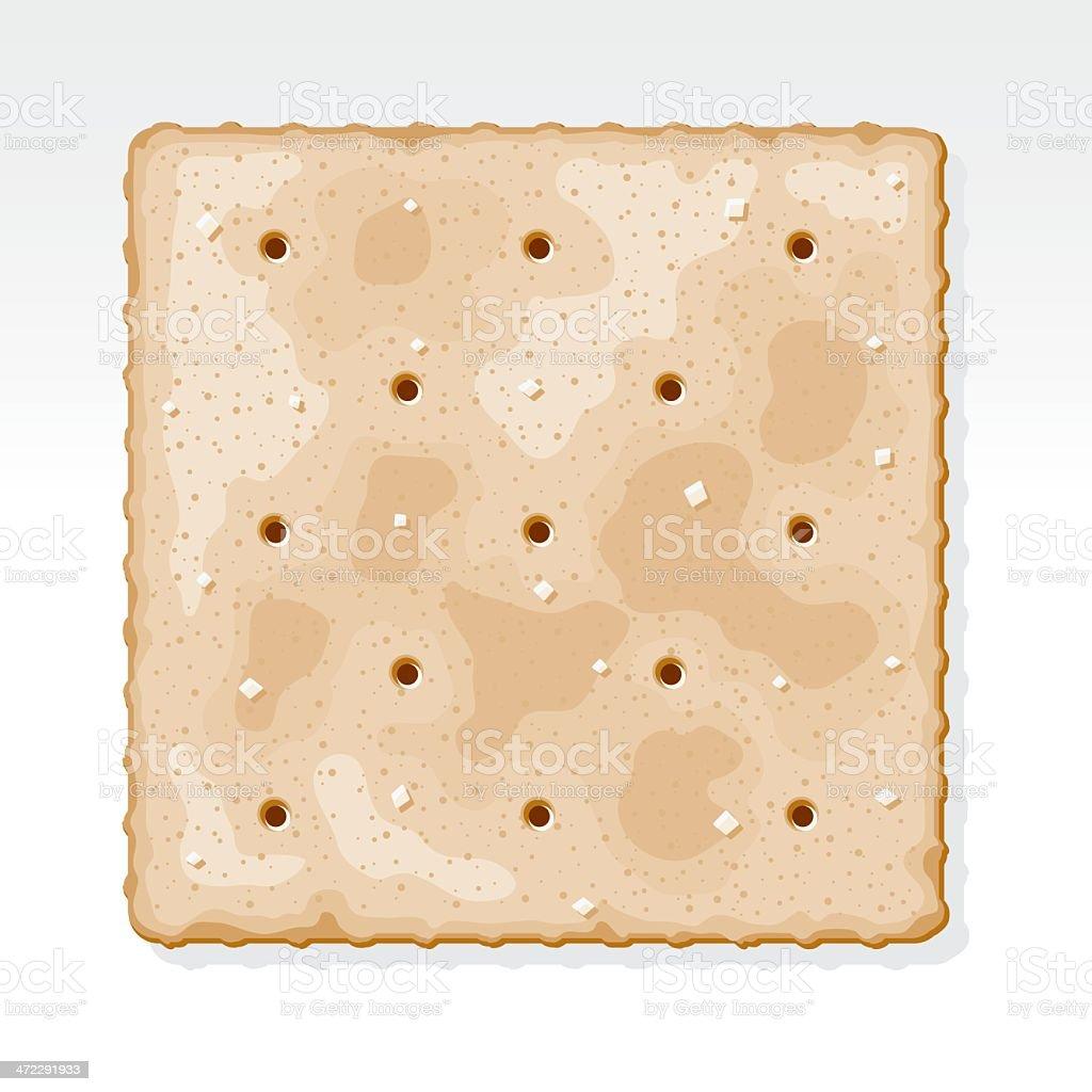Saltine Cracker vector art illustration