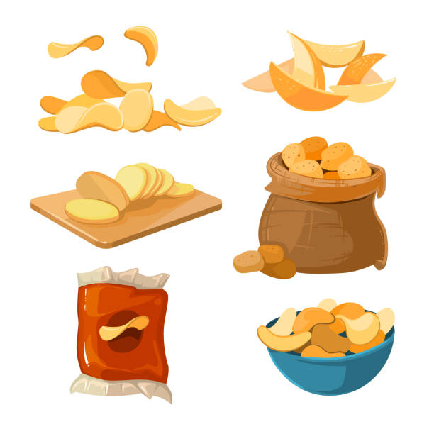 Royalty Free Salty Snack Clip Art, Vector Images ...