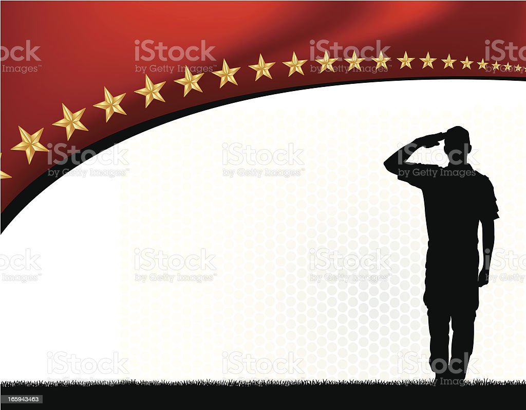 Salute Armed Forces - Military Soldier, Boy Scout Background vector art illustration