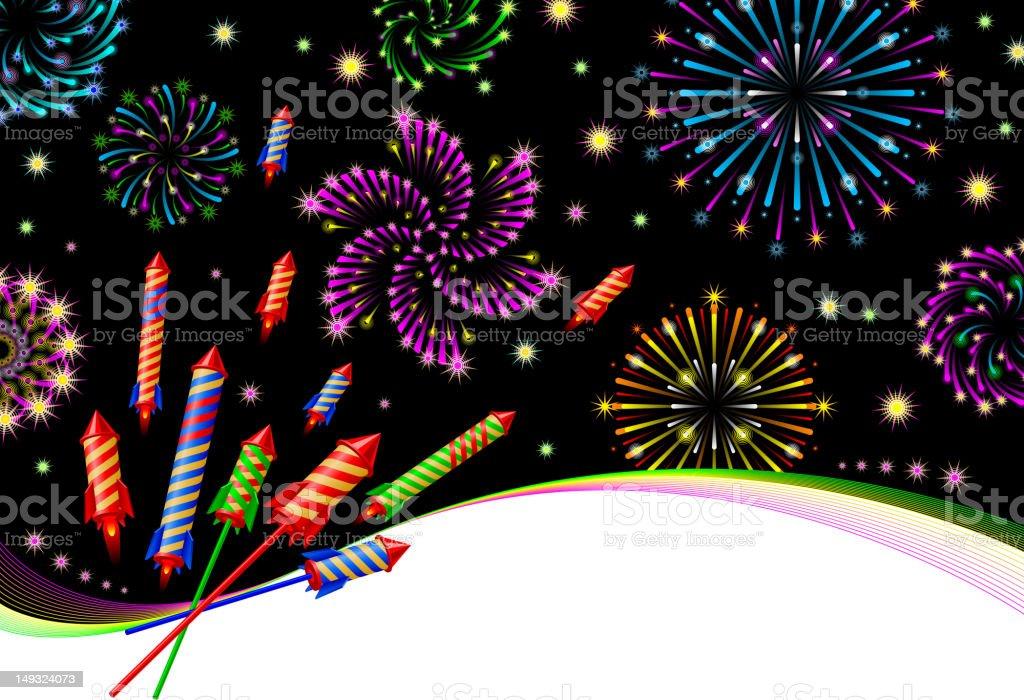 Salute Firework Stock Illustration - Download Image Now - iStock