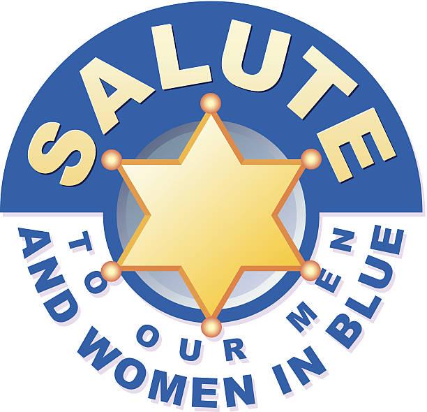 stockillustraties, clipart, cartoons en iconen met salute heading c - waardering