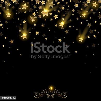 istock Salute of Golden Falling Stars 519266742