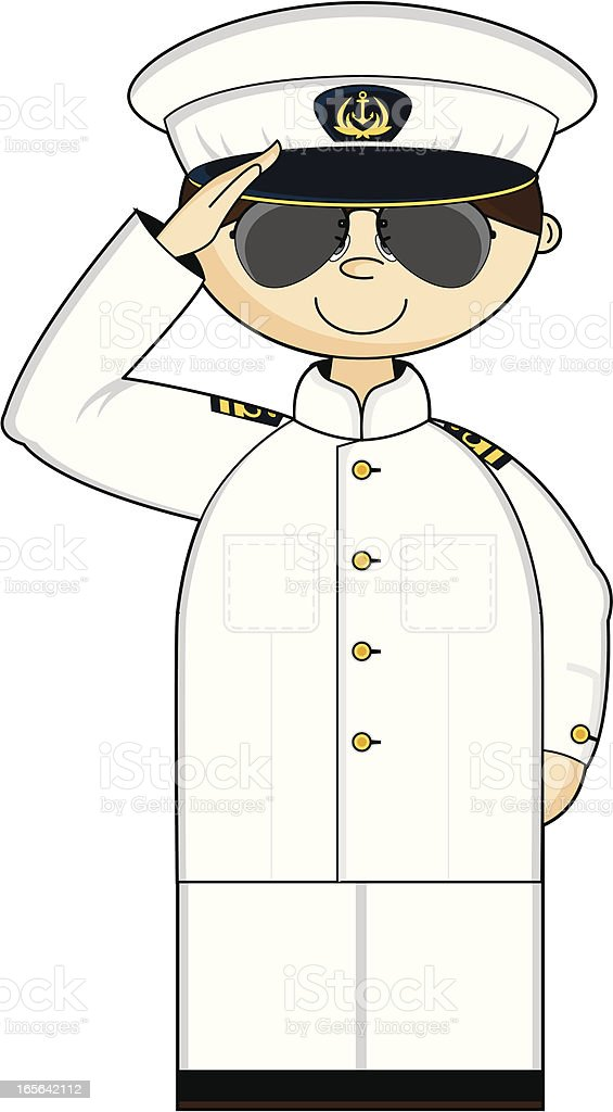 Saluting American Naval Officer in Shades royalty-free saluting american naval officer in shades stock vector art & more images of adult