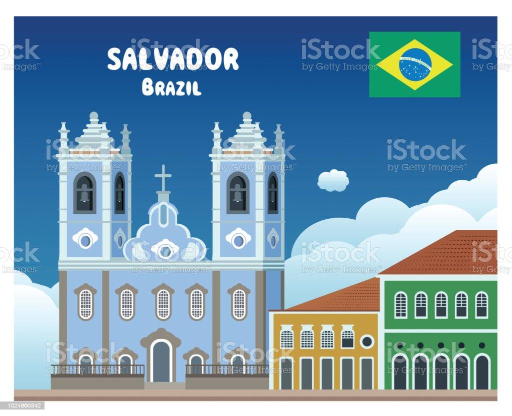 Salvador da Bahia - ilustração de arte em vetor