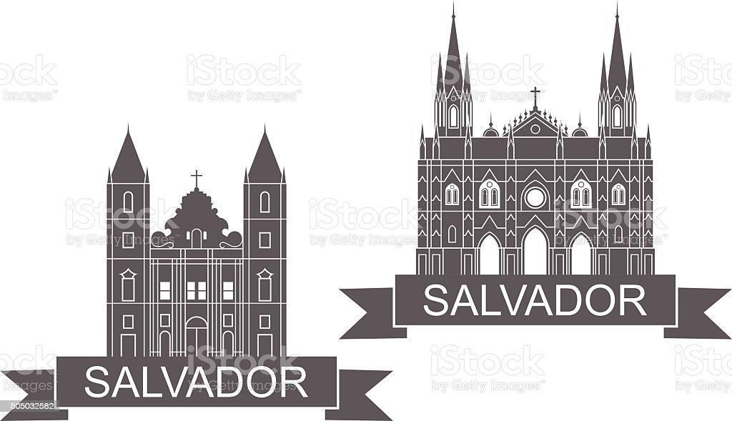 Salvador - ilustração de arte em vetor