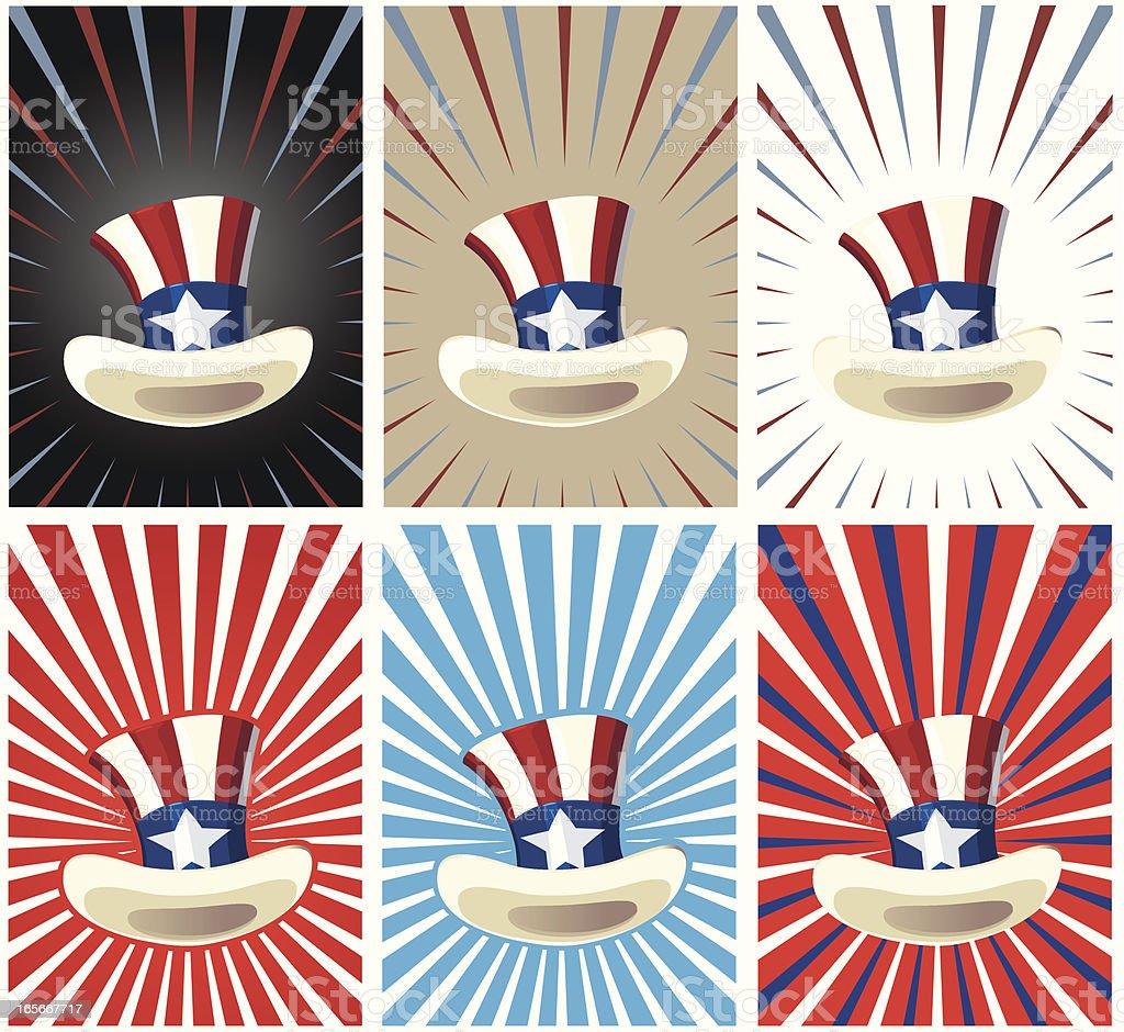 Sam Hat Set royalty-free stock vector art