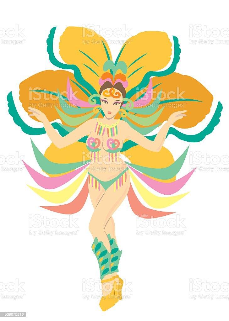 samba dance A vector art illustration