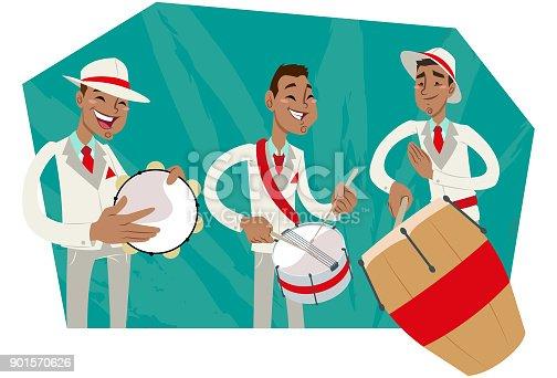 istock Bateria de escola de samba 901570626