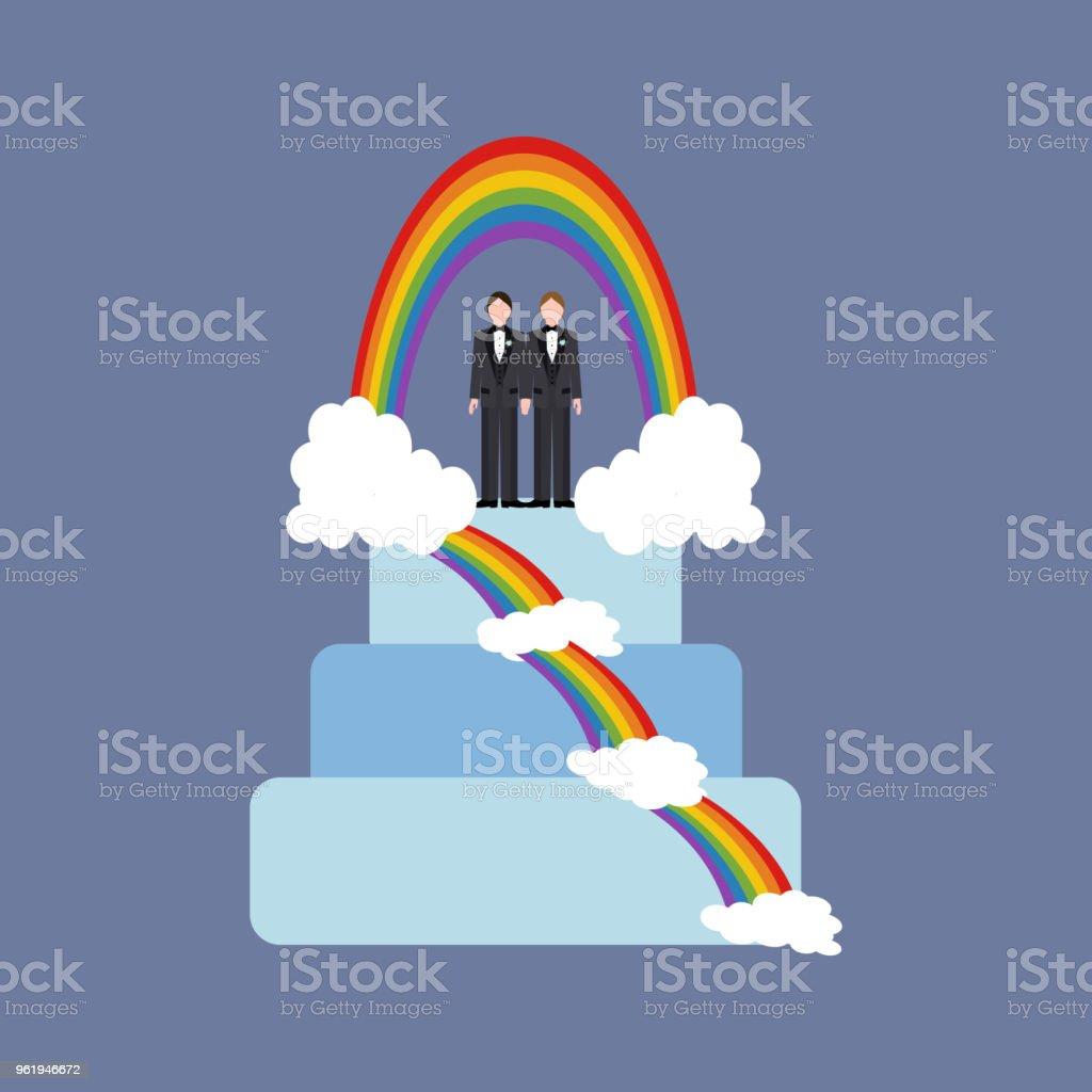 Gleichgeschlechtliche hochzeit kuchen lizenzfreies gleichgeschlechtliche hochzeit kuchen stock vektor art und mehr bilder von braut