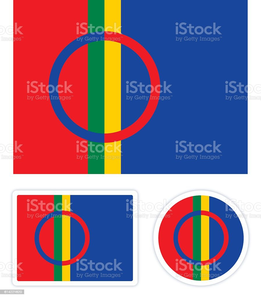 Sami Flagge  – Vektorgrafik
