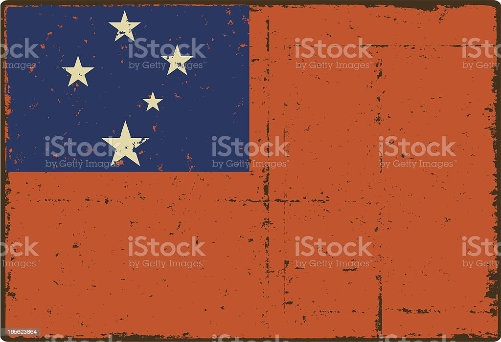 Samoan National Flag vector art illustration