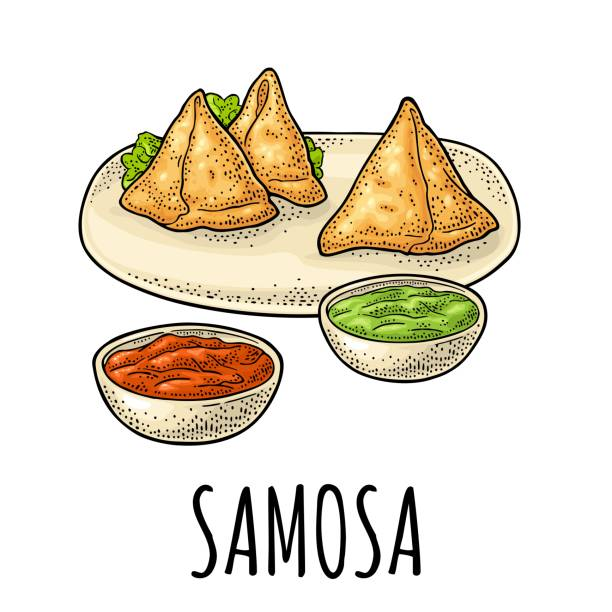 Best Samosa Illustrations, Royalty-Free Vector Graphics ...