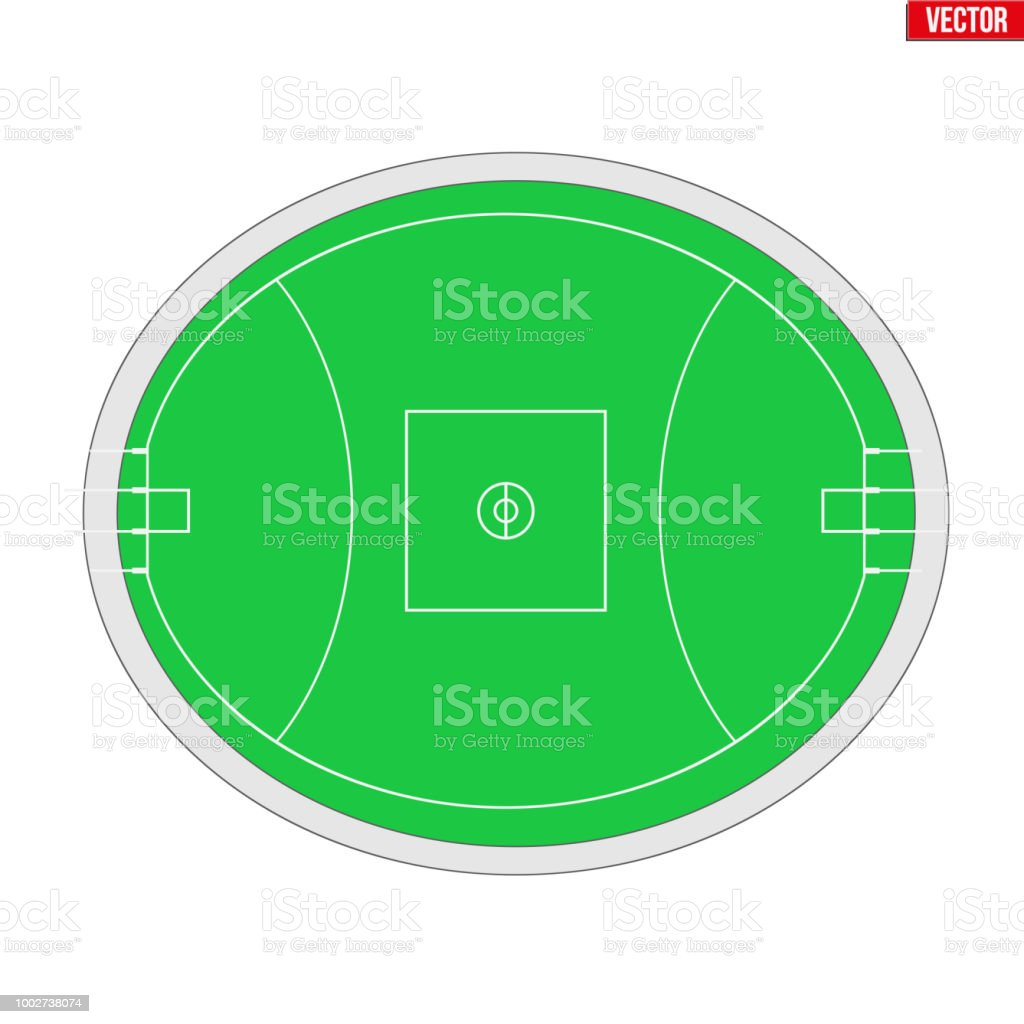Sample Australian rules football field vector art illustration