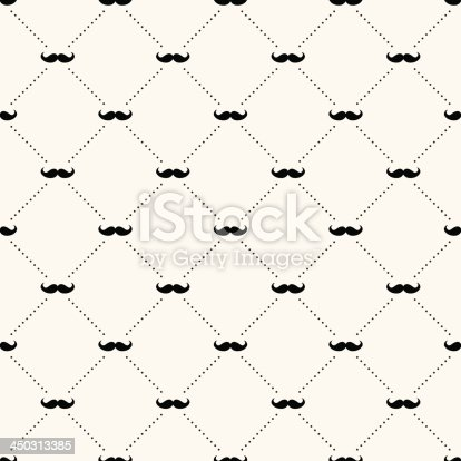 istock A sample background of a retro pattern of a mustache 450313385