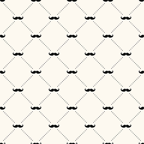 a sample background of a retro pattern of a mustache - father stock illustrations, clip art, cartoons, & icons