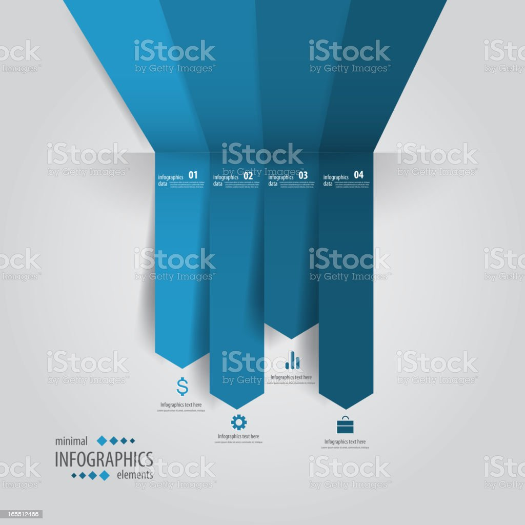 A sample layout of a minimal infographics design royalty-free stock vector art