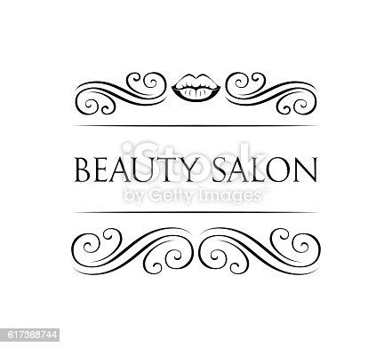 Sample Logo For A Beauty Salon And Cosmetics Product Stock Vector Art 617368744