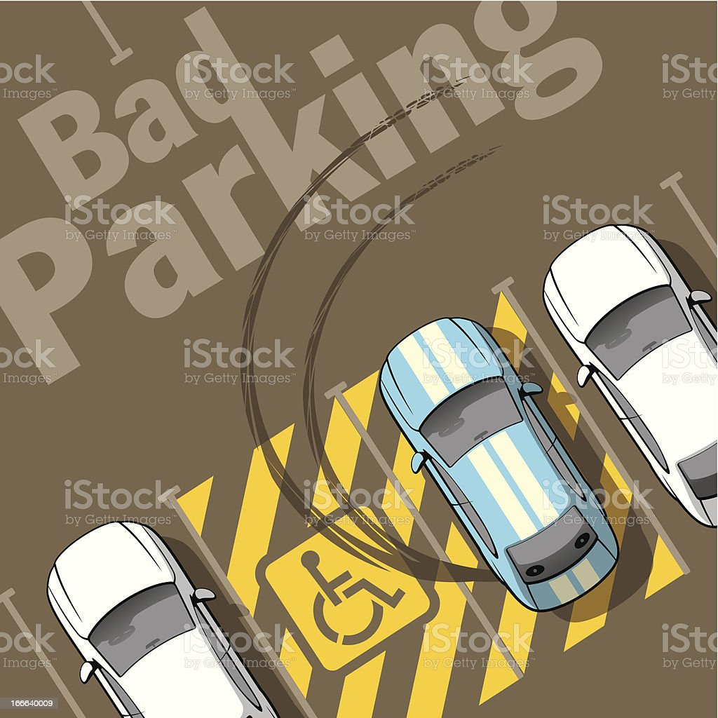 A sample poster of a bad parking vector art illustration