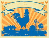 A sample poster of a vintage rooster sign