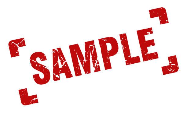 illustrazioni stock, clip art, cartoni animati e icone di tendenza di sample stamp. sample square grunge sign. sample - campione scientifico