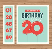 A sample template of a birthday party invitation card