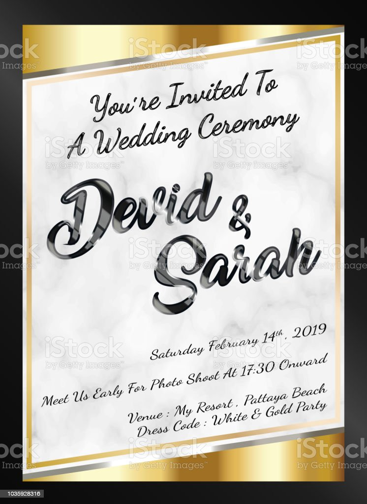 Sample Wedding Card Invitation Template Vector Eps