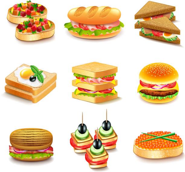 probe-1-arbeit - sandwiches stock-grafiken, -clipart, -cartoons und -symbole