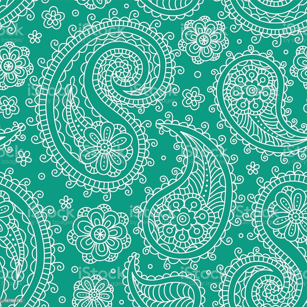 Sampless pattern green vector art illustration