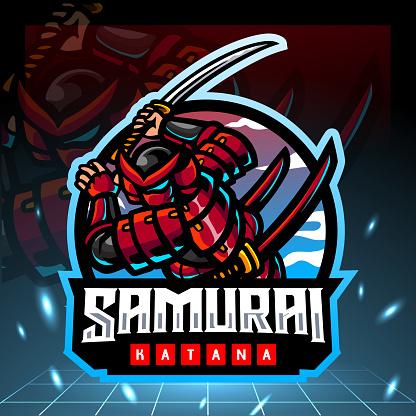 Samurai mascot.