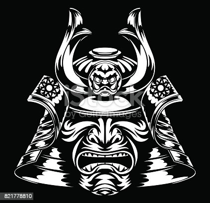 Samurai Mask And Helme...