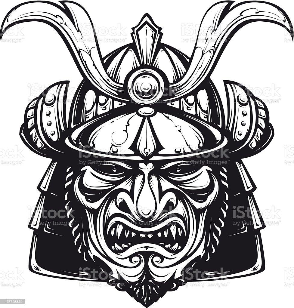Samurai Mask Clipart Stock Illustration Download Image Now Istock