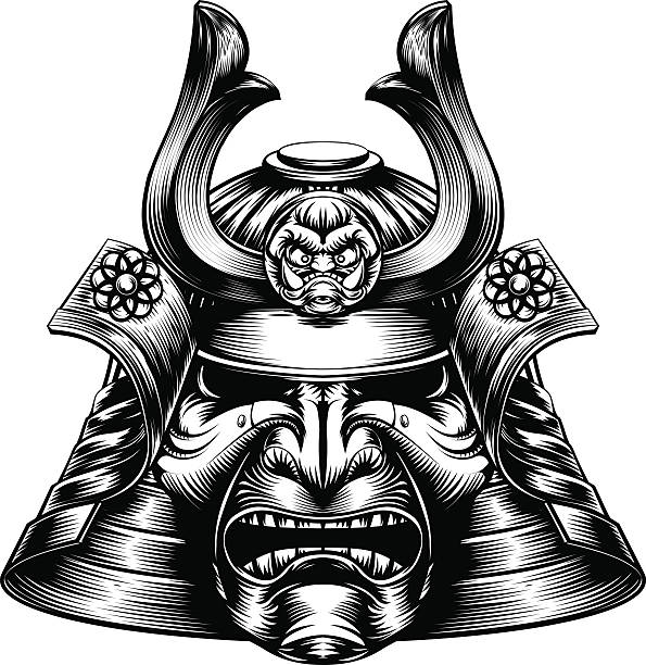 samurai mask vector art & graphics | freevector.com  free vector