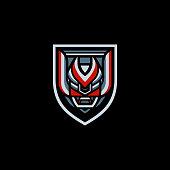 Samurai Robot E-Sports Logo Badge